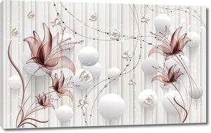 Прозрачные цветы с шариками