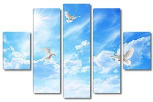 Три голубя в небе