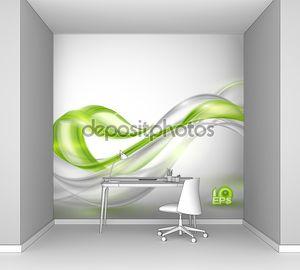 Фон с зелеными элементами