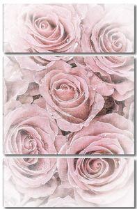 Розовые бутоны в винтажном стиле