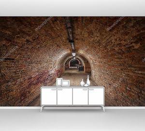 Длинный подземный  туннель