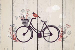 Винтаж ретро велосипедов фон