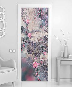 Цветочная абстракция в розовых тонах