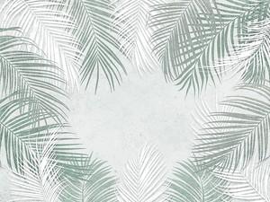 Тропические перьевые листья
