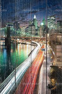 Big Apple после захода солнца - Нью-Йорк, Манхэттен ночью