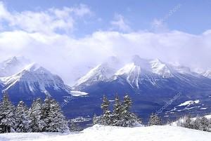 Живописный зимний пейзаж