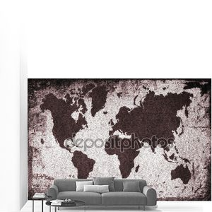 Старые ржавые мира карта. Карта мира