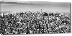 Птичьего полета из города Нью-Йорка