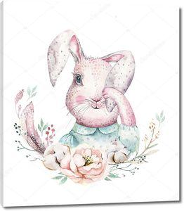Кролик с опущенным ухом