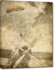 гранж фон и военной, ретро авиации