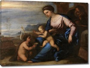 Джордано Лука. Святое семейство с маленьким Иоанном Крестителем