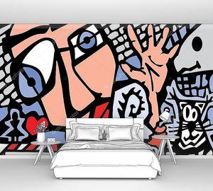 Абстрактный фон в стиле граффити