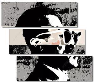 Постер с человеком в очках