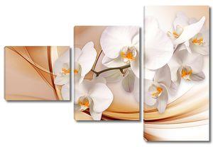 Веточка орхидеи на абстрактном фоне