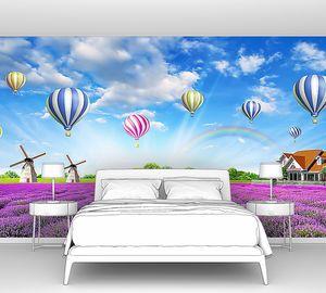 Воздушные шары над лавандовым полем