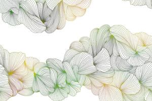 Lusso-переплетение желто-зеленых линий на белом