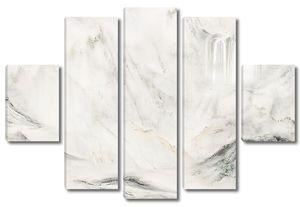 Имитация водопада на мраморе