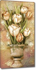 Тюльпаны в широкой вазе