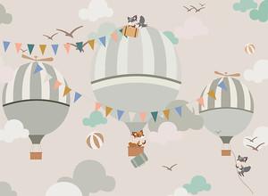 Воздушные шары с флажками