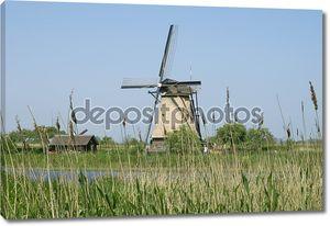 Ветряных мельниц Киндердейк в Голландии