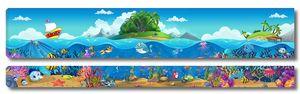 Остров и подводный мир