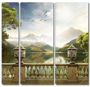Горный пейзаж. Риза озеро
