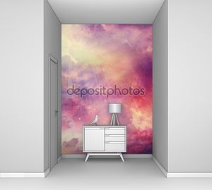 красочный звездный фон неба