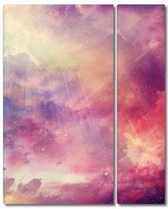 Звездный фон неба в красных тонах