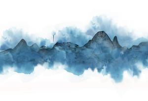 Голубой контур гор