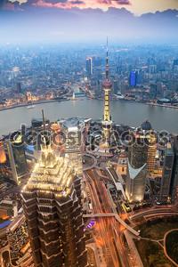 Красивые Шанхай вечером