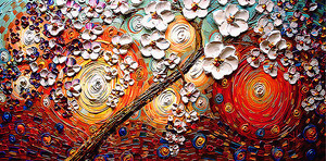 Импрессионистское изображение дерева