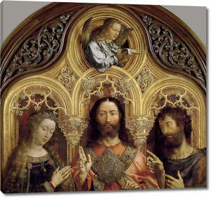 Госсарт Ян (Мабюз). Христос между Девой Марией и Иоанном Крестителем