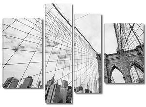 Бруклинский мост и Манхэттен с Ист-Ривер