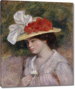 Ренуар. Женщина в цветочной шляпе