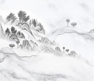 Серый мрамор с рисунком