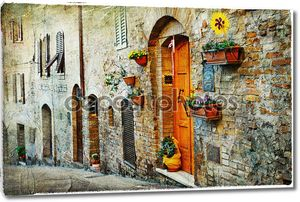 очаровательные старые улицы средневековых городов Тосканы