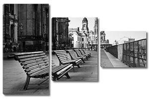 Променад на набережной в Дрездене