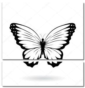 Черная бабочка силуэт