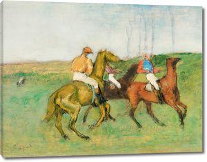 Дега - Жокеи и скаковые лошади