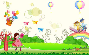 Дети на радуге