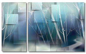 Голубая абстракция