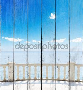 Вид на море с террасы отеля