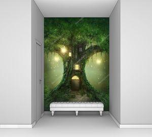 Сказочное дерево с дверью