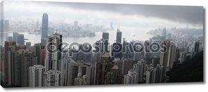 Гонконг здания вид сверху пик