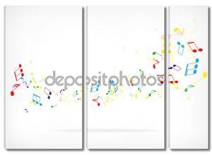 Абстрактный дизайн фон с красочными ноты