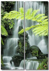 Японский сад водопадов