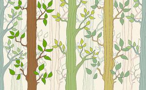 Полосатый узор из деревьев
