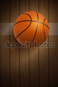 баскетбольный мяч на этаже
