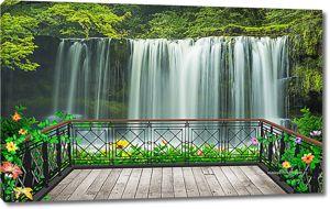 Вид с терраски на водопад