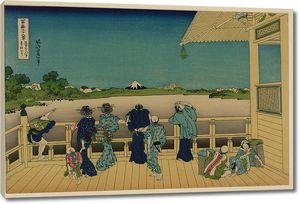 Кацусика Хокусай.  Садзаэ-до, один из 500 храмов Раккандзи